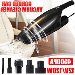 12V 4500PA Corded Car Vacuum Cleaner Wet & Dry Dust Bagless