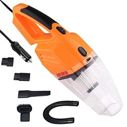 GEDKOA Car Vacuum Cleaner with LED Light, Powerfull 12V 120W