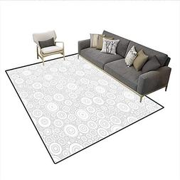 Carpet,Different Sized Circles and Rounds Simple Geometric S