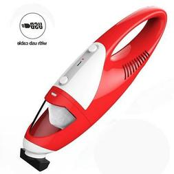Cordless hand-held vacuum cleaner Home/Car hoover USB rechar