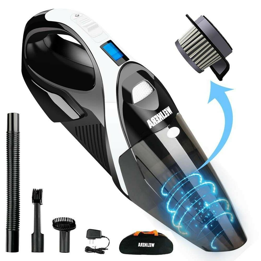 12v 100w cordless handheld vacuum with stainless