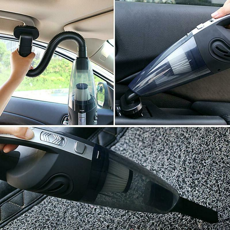 Car Handheld Vacuum Cleaner Wet Dry Mini Auto Dust Buster USB Charger
