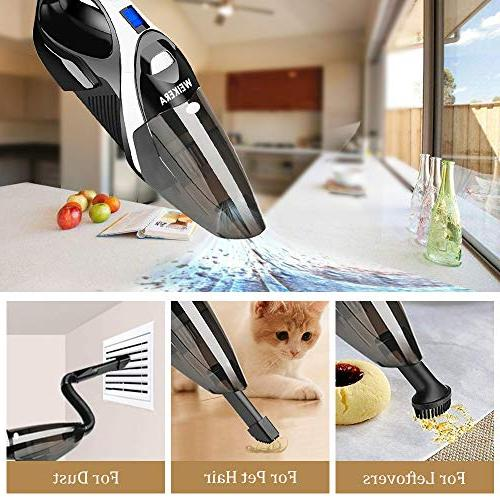 WELIKERA Cordless Handheld Vacuum with Rechargeable Lithium Hand