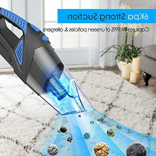 Tureal 120W Cordless Vacuum Cleaner, Wet & Dry Hand-held Car Busters Suction, Pet Hair Eraser