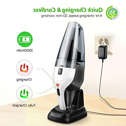 Hand Vacuum Vacuum, Vac Cordless Cleaner 14.8V Lightweight Vacuum Home Pet Hair Car