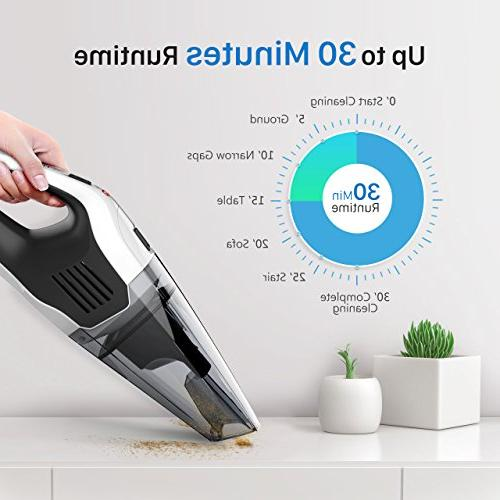 Handheld 6KPA Rechargeable Lithium Lightweight Wet Dry for Home Car Cleaning