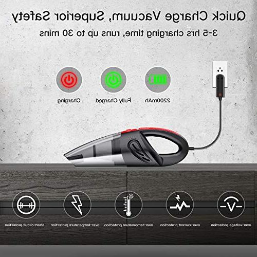 Audew Vacuum, Hand Vacuum Cordless Rechargeable Hair Cleaner Busters for Home Car