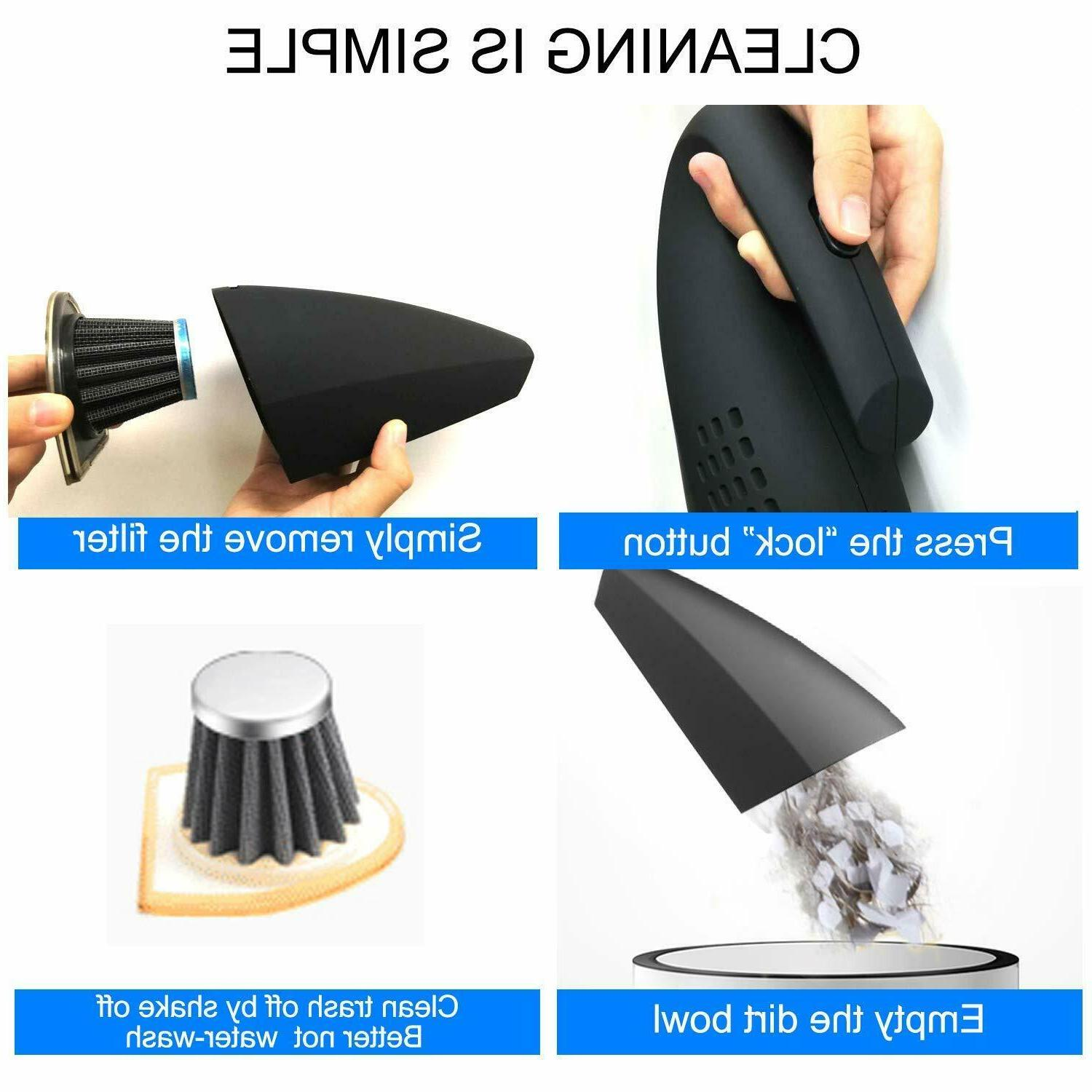 Handheld Vacuum Cleaner Rechargeable Dry Dust Buster Portable