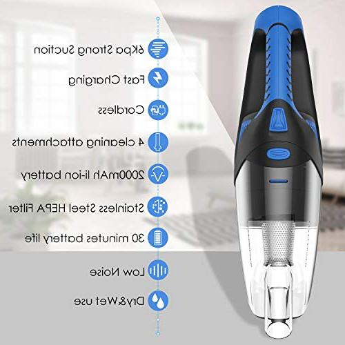 Buster Pet Hair Hand Vacuum for Car 120W Cyclone Suction