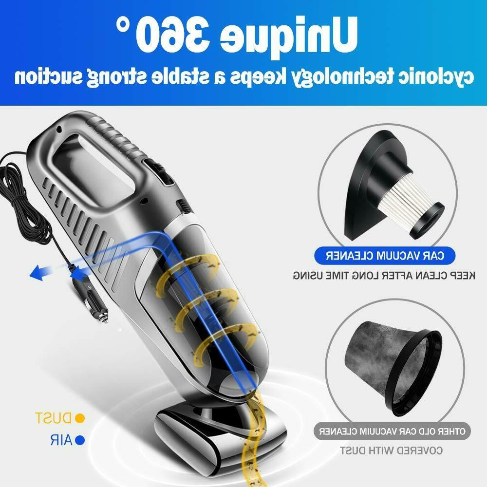 New Car Cleaner Wet Dry Handheld Strong Dust Home Use
