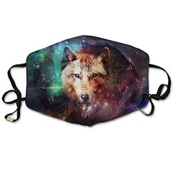 YUIOP Space Wolf Planet Buster Printed Mask Neutral Mask for