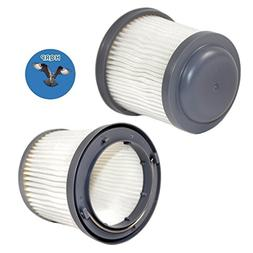 HQRP 2-Pack Washable Filter for Black & Decker HFVB320J27, H