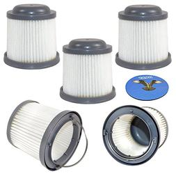 HQRP 5-Pack Washable Filter for Black & Decker HFVB320J27, H